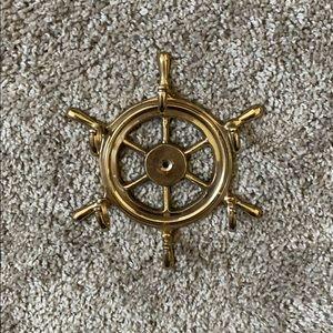 nautical gold hook decor
